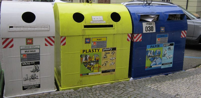 Where to find the nearest waste collection point in Prague?